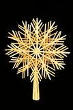 Christmas straw star Stock Images