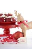 Christmas Strawberry Santas Stock Photos