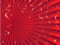 Christmas streamer background Stock Photography