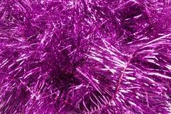 Christmas streamer grunge background. Pink christmas streamer grunge background stock photos