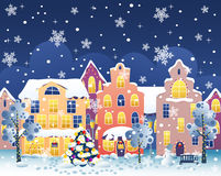 Christmas Street Royalty Free Stock Photography