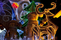 Christmas Street Decoration Royalty Free Stock Photo