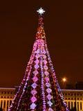 Christmas street decoration in Astana, Kazakhstan Stock Photos