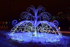 Christmas street decoration in Astana, Kazakhstan Stock Image