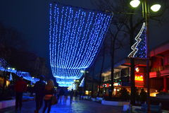 Christmas street decoration Stock Photo