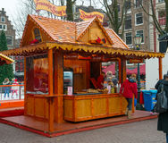 Christmas street food cafe Stock Photo