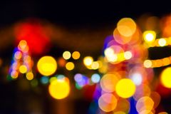 Christmas street lights at night. Abstract composite of Christmas street lights at night royalty free stock photography
