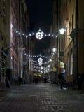 Christmas street at night Royalty Free Stock Photo