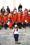 Christmas Street opening in Helsinki Royalty Free Stock Photography