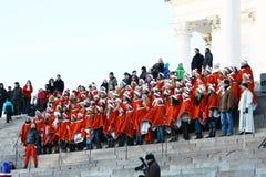 Christmas Street opening in Helsinki Stock Photo