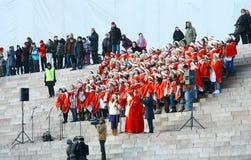 Christmas Street opening in Helsinki Stock Photos