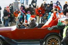 Christmas Street opening in Helsinki Royalty Free Stock Photos