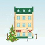 Christmas street. stock illustration