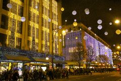 Christmas streets in London stock image