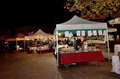 Christmas streets market royalty free stock photography