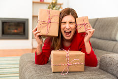 Christmas stress Royalty Free Stock Image