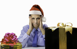 Christmas stress Royalty Free Stock Photo
