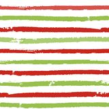 Christmas striped background. Seamless vector pattern with brush painted lines. For fashion print, wallpaper, wrapping paper, packaging, card design Royalty Free Stock Images