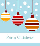 Christmas striped baubles Royalty Free Stock Photography