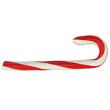 Christmas striped candy cane, 3d render. Isolated on white background Royalty Free Stock Photos