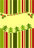 Christmas striped card Royalty Free Stock Photo