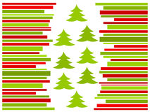 Christmas striped card. Red and green striped Christmast card. Vector illustration Royalty Free Stock Image