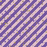 Christmas striped diagonal wrapping paper with stars pattern. seamless background. Design wallpaper for present or gift Stock Images