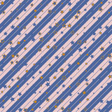 Christmas striped diagonal wrapping paper with stars pattern. seamless background. Design wallpaper for present or gift Stock Photo