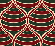 Christmas striped ornament. Stock Photography