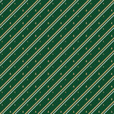 Christmas striped pattern on green background Royalty Free Stock Image