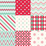Christmas stripes geometric background. Seamless Christmas stripes graphic geometric texture background Stock Photo