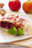 Christmas strudel with apples and cherries Royalty Free Stock Photography
