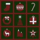 Christmas stuff icons. Set of icons on a theme Merry Christmas Royalty Free Stock Images
