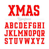 Christmas style font Royalty Free Stock Images