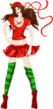 Christmas style young woman Royalty Free Stock Photos