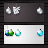 Christmas stylish banner set Royalty Free Stock Photos