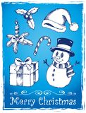 Christmas stylized drawings 2 Stock Image
