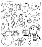 Christmas stylized drawings 3 Royalty Free Stock Image