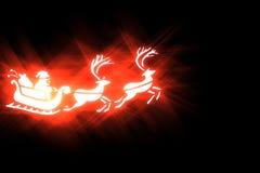 Christmas stylized illustration on a black background. With effect light Stock Image