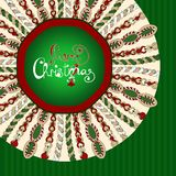 Christmas stylized knitted background Stock Photo