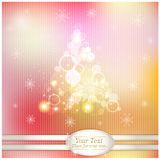 Christmas stylized tree on the fabulous background Royalty Free Stock Images