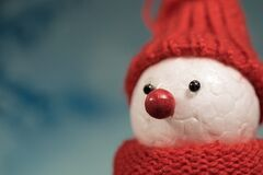 Christmas styrofoam snowman Royalty Free Stock Photo