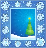 Christmas subject greeting card 1 Stock Images