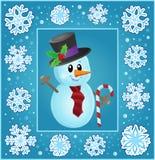 Christmas subject greeting card 8 Stock Image