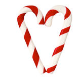 Christmas Sugar Candy Cones forming a heart Stock Photos