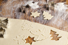 Christmas Sugar Cookie Shapes Stock Photos
