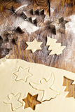Christmas Sugar Cookie Shapes Stock Images