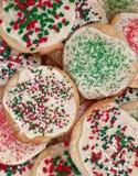 Christmas sugar cookies. Close-up of christmas sugar cookies Stock Image