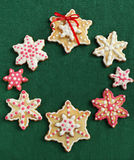 Christmas sugar cookies. On a green background Stock Image