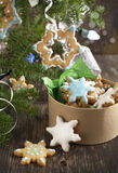 Christmas Sugar Cookies. Selective focus Royalty Free Stock Images
